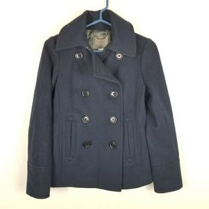 J.Crew Wool Peacoat Coat Nello Gori Navy